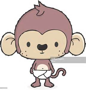 Baby Monkey With Diaper Cartoon Vector Art   Getty Images
