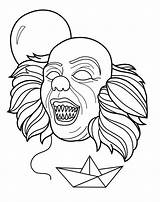Pennywise Homeicon sketch template