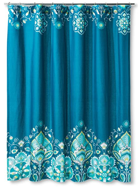 Tamerin Teal Shower Curtain  Everything Turquoise
