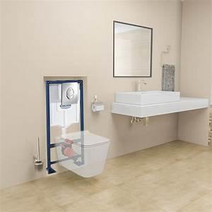 Toilettes Suspendues Grohe : pack wc suspendu grohe eden complet garantit 2 ans ~ Nature-et-papiers.com Idées de Décoration