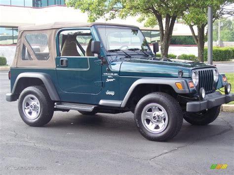 1998 emerald green pearl jeep wrangler sport 4x4 30770059