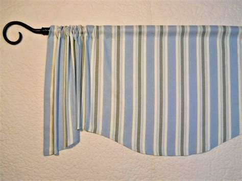 Blue Green Valance by Cottage Striped Valance Spa Blue Green Window Topper