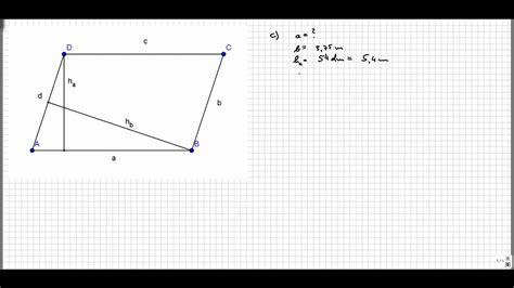 fehlende groessen parallelogrammmp youtube