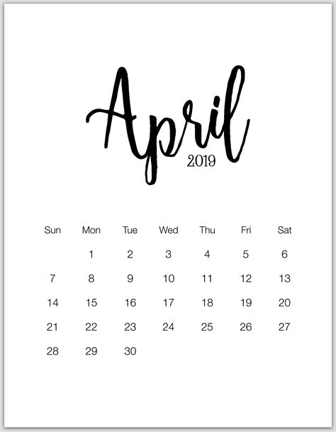 minimalist printable calendar  january  december