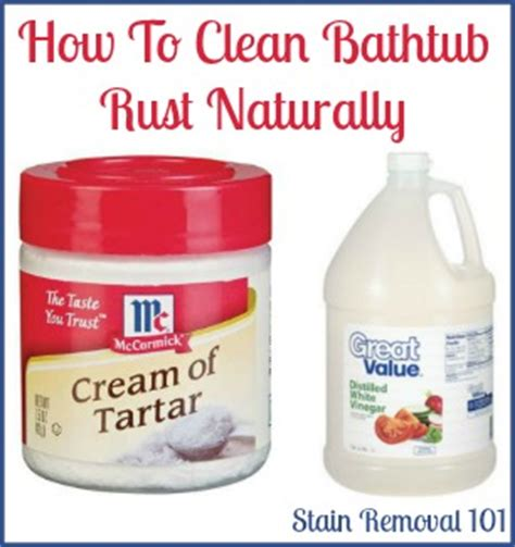 removing rust stains  bathtub natural home remedies