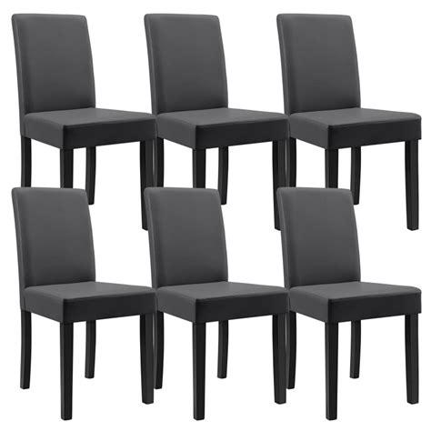 chaise bureau grise table 160 cm en bois avec 6 chaises pour tables a 492 09