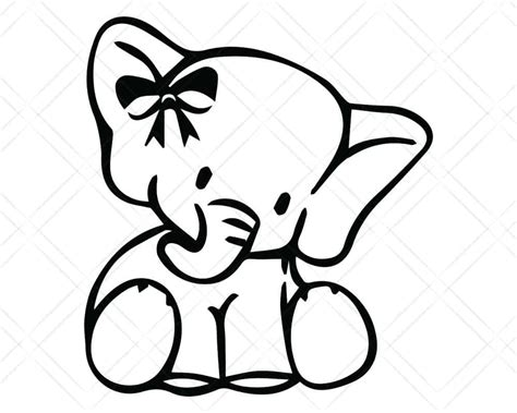 Svg stands for scalable vector graphic. Baby Girl Elephant SVG Cut Files   Scotties Designs