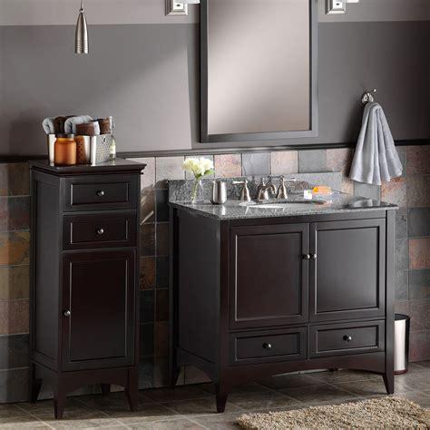 foremost berkshire espresso bathroom floor cabinet floor