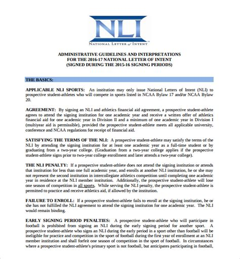 national letter of intent signing day letter of intent college sports