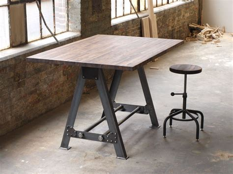 industrial kitchen table furniture hand made industrial a frame table kitchen island bar by cosironworks custommade com