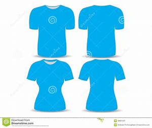 T Shirt Blue Template Stock Illustration Image 48661441