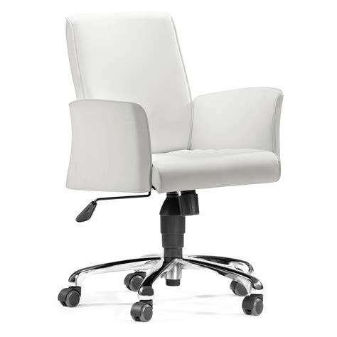 white desk chair zuo modern metro office chair white at hayneedle