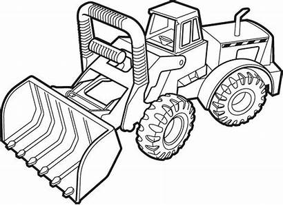 Coloring Tonka Truck Pages Loader Equipment Heavy