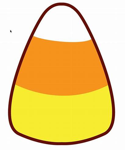 Corn Candy Printable Template Clip Clipart Candycorn