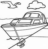 Boat Speed Drawing Coloring Racing Hydroplane Ski Getdrawings sketch template