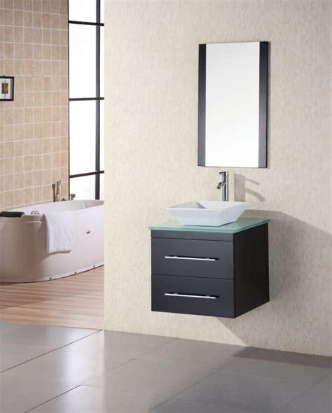 modern single sink bathroom vanity  tempered