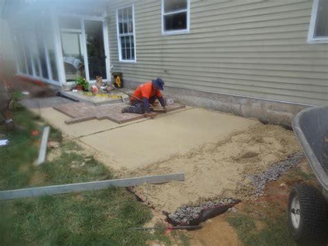 flagstone patio installation parisian stone patio installation contractor bensalem pa