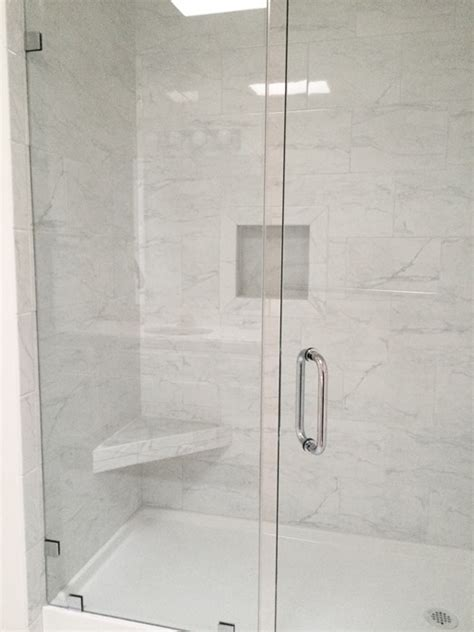 Home Depot Hexagon Marble Tile by Grandma S Walk In Shower Centsational