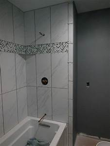 image result for vertical stacked 12x24 tile showers With 12x24 tiles in bathroom