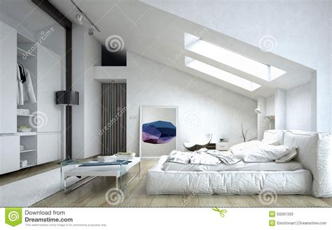 architectural bedroom  white house stock