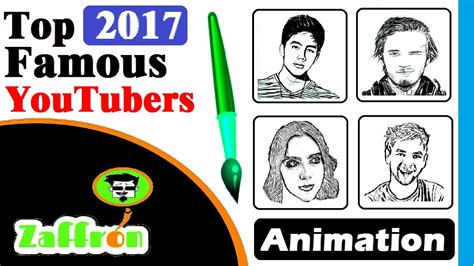top youtubers  famous youtubers drawing animation