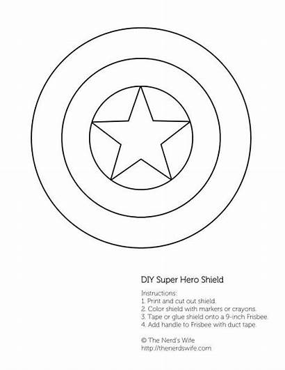 Captain America Shield Printable Diy Superhero Birthday
