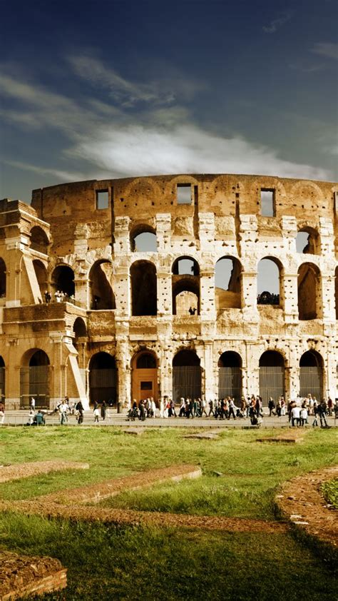 wallpaper colosseum rome italy travel tourism