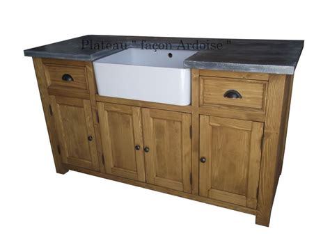 meuble sous evier de cuisine meuble sous evier 4 portes en pin massif