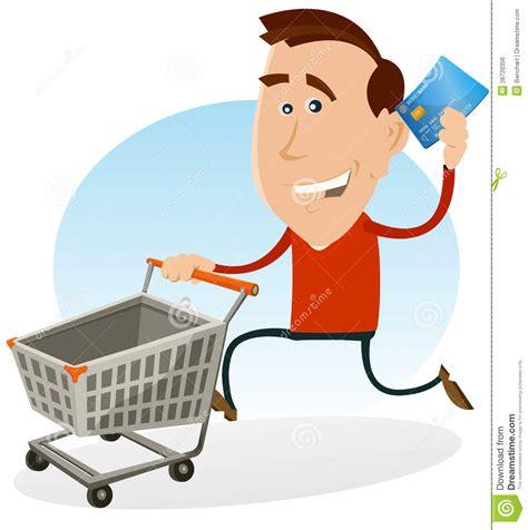 Glückliches Mann-einkaufen Mit Kreditkarte Lizenzfreies