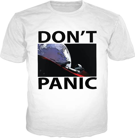 View Tesla Car In Space Dont Panic Background