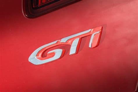 peugeot car badge early reveal for new peugeot 308 gti with up to 270ps