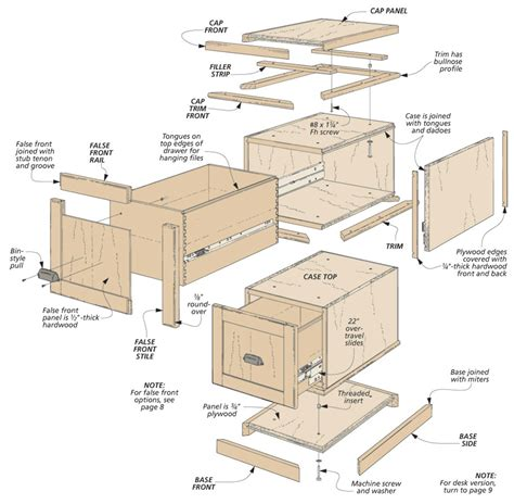modular file cabinets woodworking project woodsmith plans