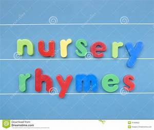 colorful magnetic letters spelling nursery rhymes stock With magnetic sign board letters