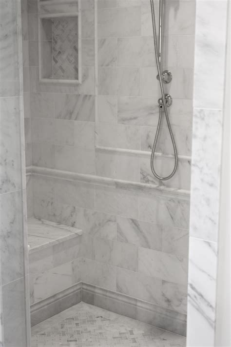 12 Awesome Marble In Shower Design Ideas by Asian Statuary 6x12 Polished Marble Tile In 2019