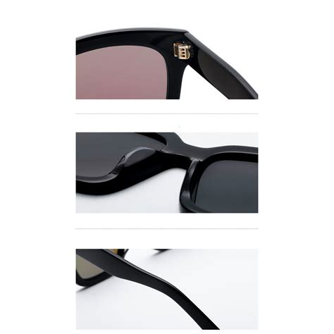 kacamata pria korean v style polarized sunglasses black blue jakartanotebook com