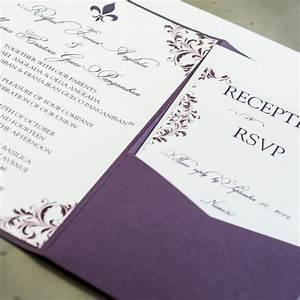 plum flourish pocket fold wedding invitations too chic With wedding invitations with pocket folds