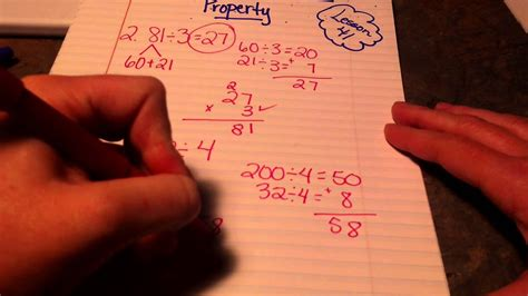 division   distributive property youtube