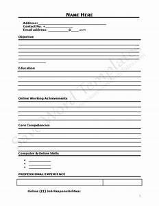curriculum vitae blank form http wwwresumecareerinfo With blank resume form for job application