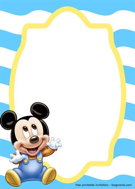 mickey mouse baby invitation template bagvania