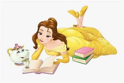 Disney Belle Princess Reading Cliparts Cartoons Transparent