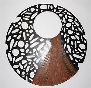 Large steel sculpture recycled metal wall art round