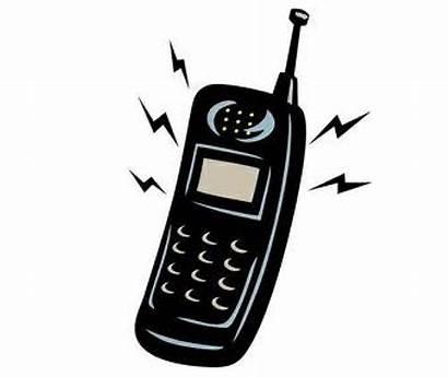 Phone Cell Clipart Cartoon Phones Ring Cartoons