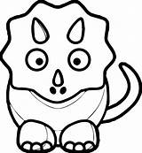 Dinosaur Coloring Pages Baby Cute Drawing Clipart Triceratops Cartoon Print Outline Md Dinosaurs Pink Clip Animals Line Preschoolers Draw Colouring sketch template