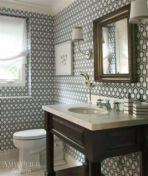 hicks hexagon wallpaper contemporary bathroom amy