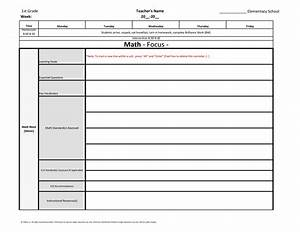 1st first grade weekly lesson plan template w florida With tutor lesson plan template