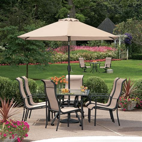 garden oasis lake 7 pc dining set including 6