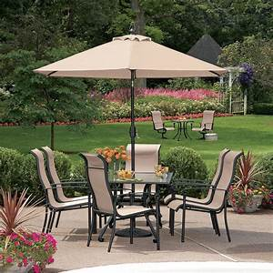 Garden Oasis Crystal Lake 7 PC Dining Set including : 6 ...