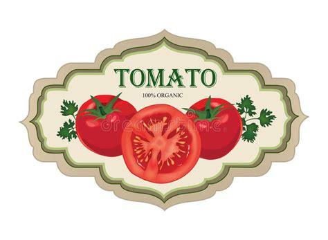 tomato label vector set retro stickers stock