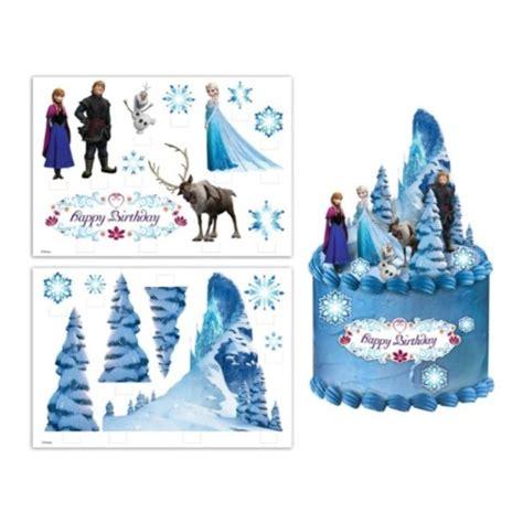 amazing frozen edible cake topper scene kids themed