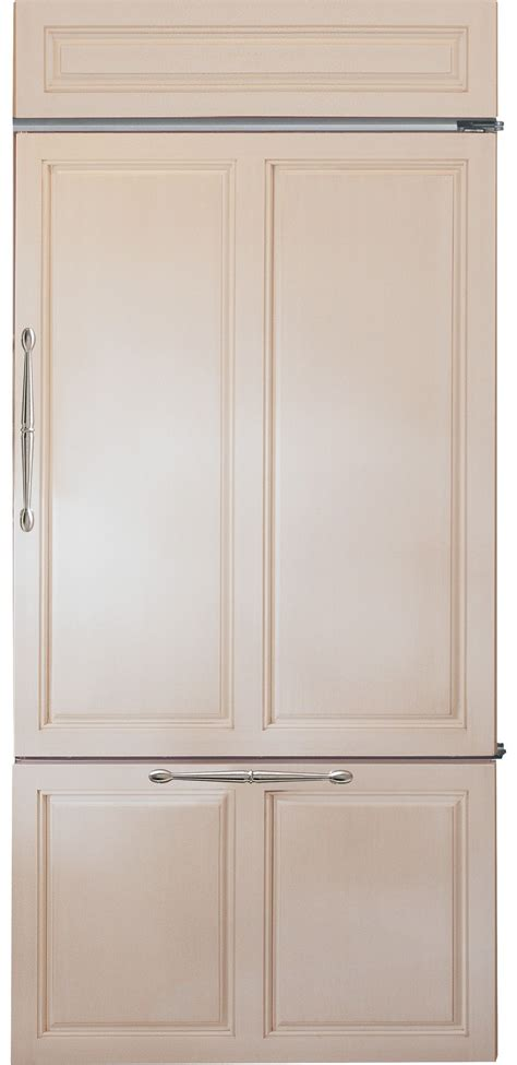 monogram zicnhrh   panel ready counter depth bottom freezer refrigerator  panel